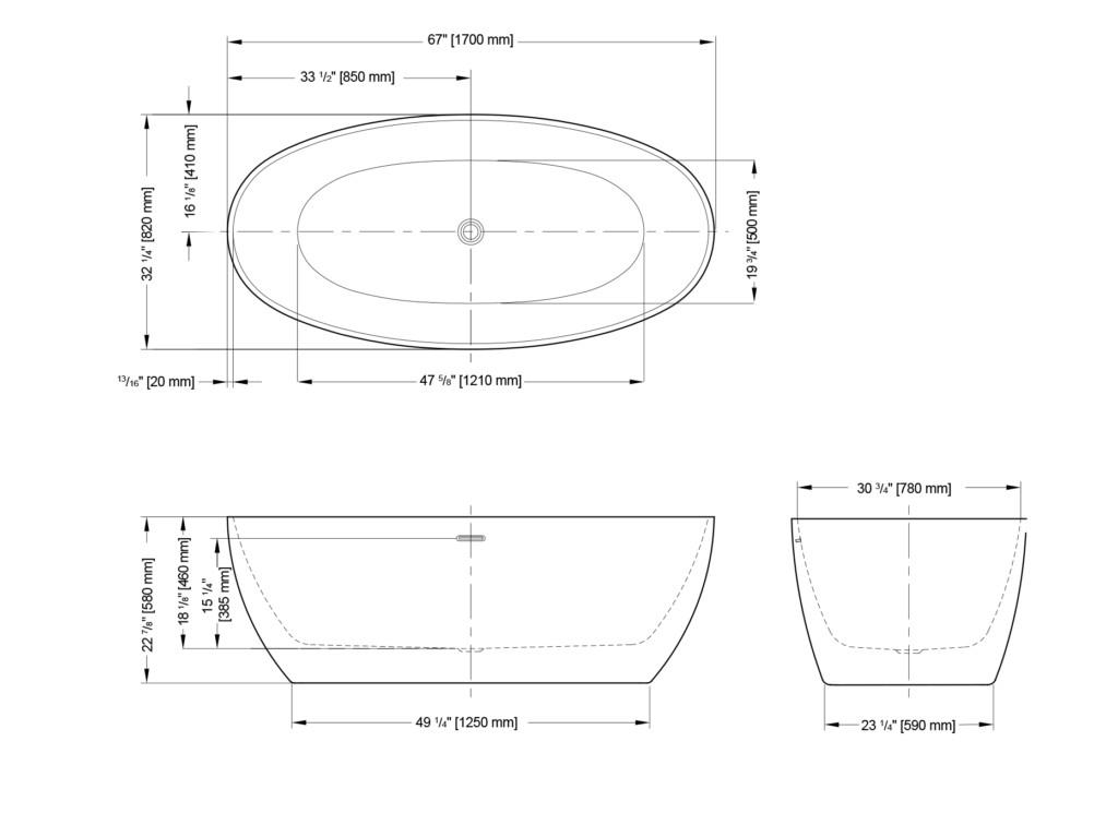 Voce Grande Freestanding Bathtub