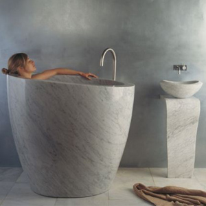 Stone Forest Eau Soaking Bathtub
