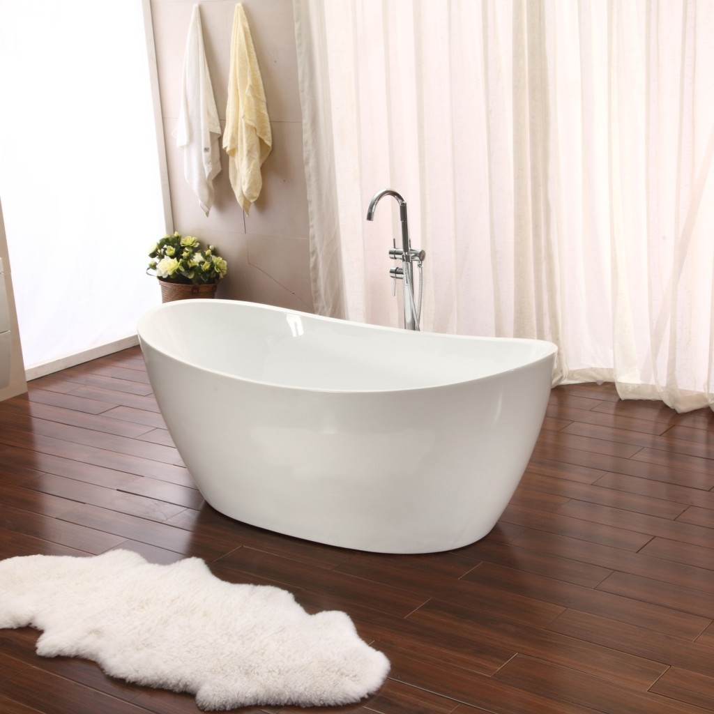 Modern bathroom sinks and faucets - Tubs And More Flo Freestanding Bathtub Bundle Save Today