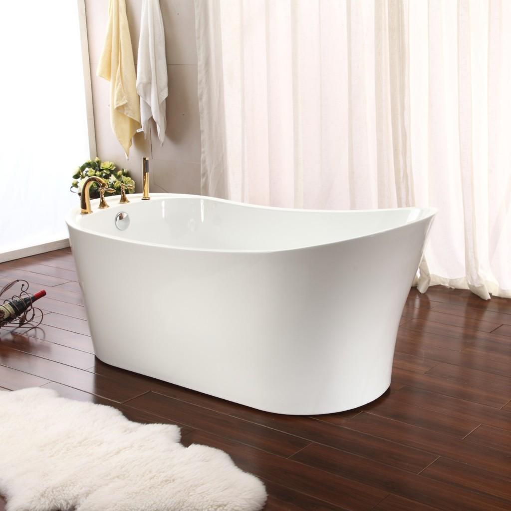 Tubs more par freestanding bathtub bundle save 30 45 for Showers for freestanding baths