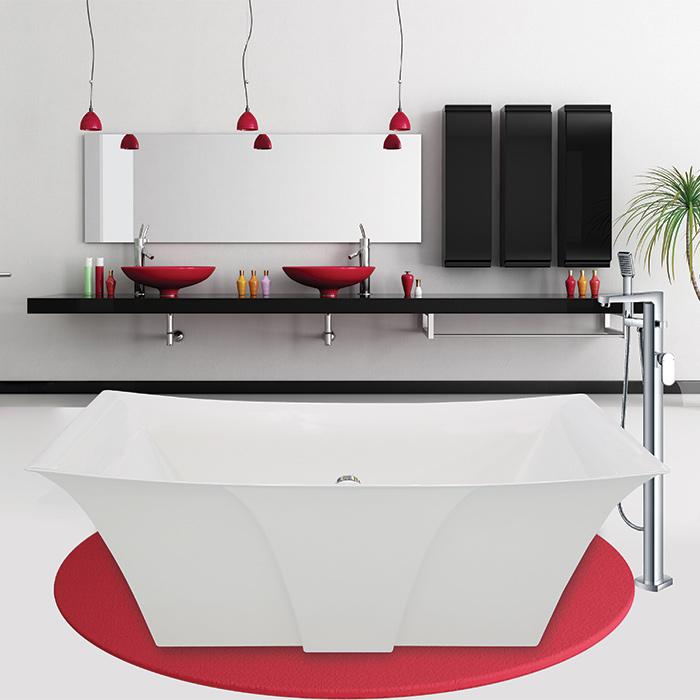 Alcove lilium freestanding bathtub for Alcove bathtub dimensions
