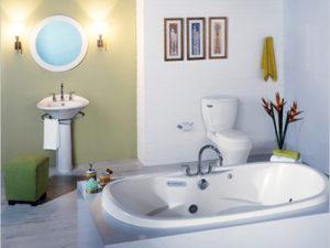 Essence Oval Air Massage Bathtub By Mansfield