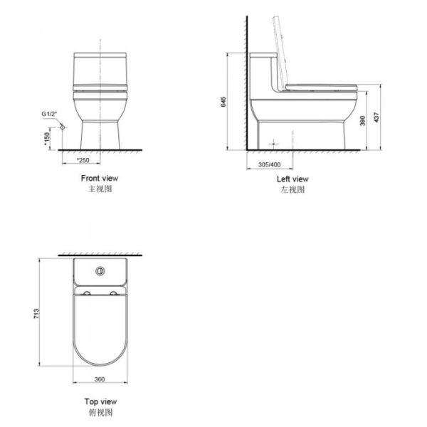 Dune Ii 1 Piece Toilet Dual Flush