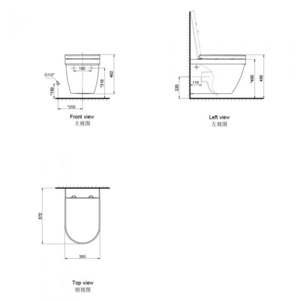 Dune Wall Hung Toilet