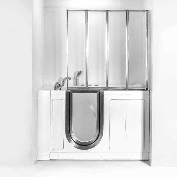 4-fold Glass Shower Screen For Walk-in Tubs
